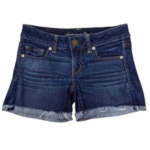 American Eagle Stretch Midi Jean Shorts Size 4